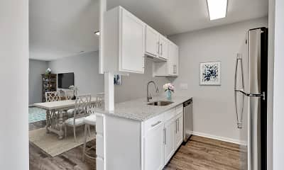 Kitchen, Harbor Station Townhomes, 2
