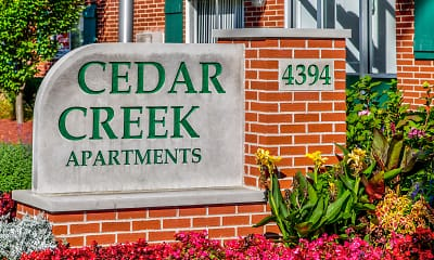 Community Signage, Cedar Creek Apartments, 1