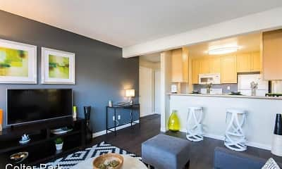 Living Room, Colter Park Apartments, 2