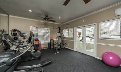 Fitness Weight Room, The Landings at Willowbrook, 2