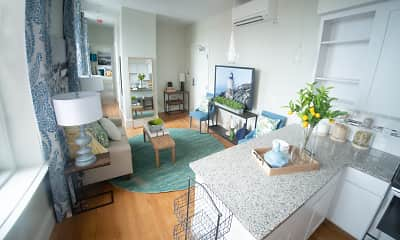 Living Room, The Residences at Adams House, 1
