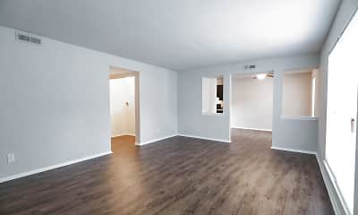 Living Room, Kingsbridge Apartments, 1