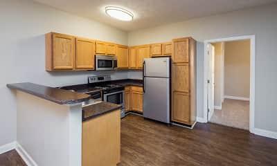 Kitchen, Main Street Apartments, 1
