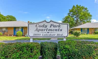 Community Signage, Cody Park, 2