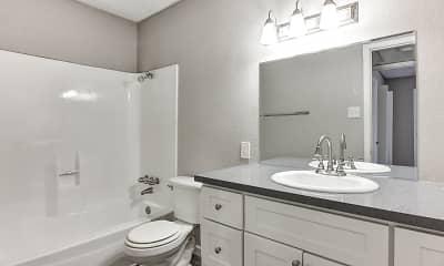 Bathroom, Creekwood Apartments, 2