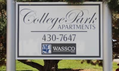 Community Signage, College Park Apartments, 1