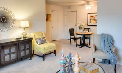 Living Room, Hummingbird Pointe Apartments & The Gardens, 1