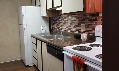 Kitchen, Red Deer Apartments, 0