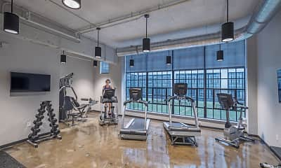 Fitness Weight Room, Delco Lofts, 2