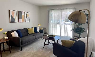 Living Room, Springtree Apartments, 0