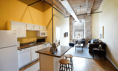 Kitchen, The Lofts and Residences at Ribbon Place, 0
