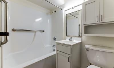 Bathroom, Hopkins Village Apartments, 2