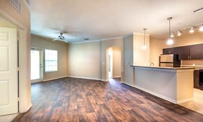 Kitchen, Mirador & Stovall Apartments At River City, 1
