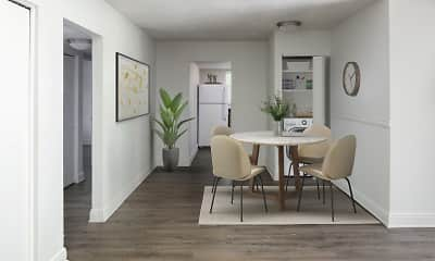 Dining Room, The Crossing at 2600 Apartments, 1
