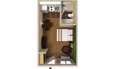 Furnished Studio - St. Louis - Westport - East Lackland Rd., 2