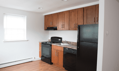 Kitchen, Audubon Manor Apartments, 1