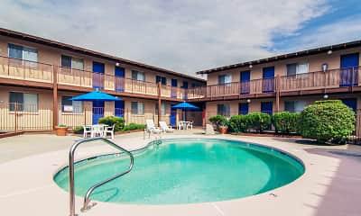 Pool, La Petite Chateau Apartments, 2