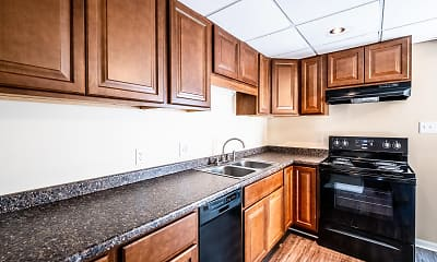 Kitchen, Woodbridge Apartments, 2