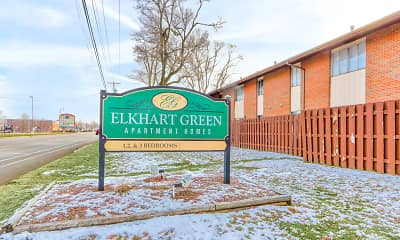 Community Signage, Elkhart Green Apartments, 0