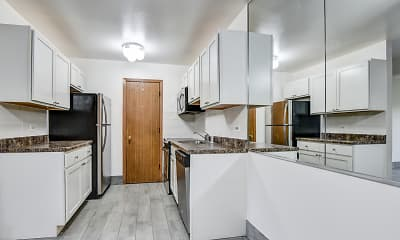 Kitchen, Wauconda Park Apartments, 0