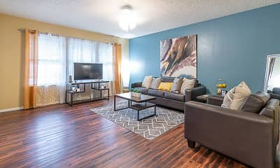Living Room, Elevation On Post (Per Bedroom), 1