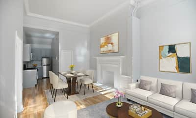 Living Room, Spruce Apartments, 1