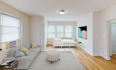 Living Room, Dahlia Apartments, 0