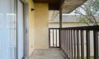 Patio / Deck, Crossings Apartments, 2