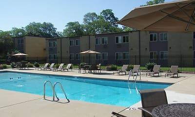 Pool, Park Village Apartments, 0