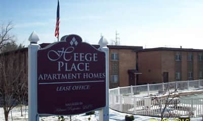 Community Signage, Heege Place Apartments, 0