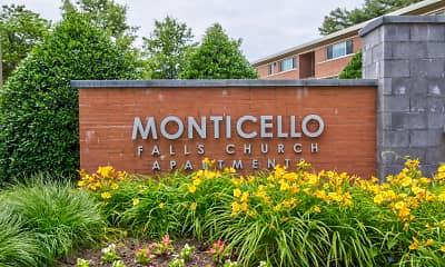 Community Signage, Monticello Falls Church, 2