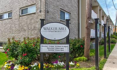 Community Signage, Walker Mill, 2