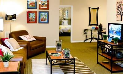 Living Room, Campus Creek Apartments, 1