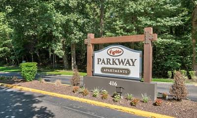 Community Signage, Parkway Apartments, 0