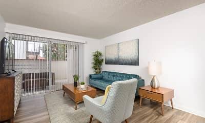 Living Room, El Cordova Apartments, 0