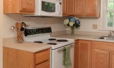 Kitchen, Colonial Village Apartments, 1