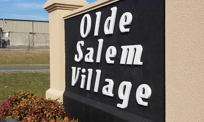 Community Signage, Olde Salem Village, 1
