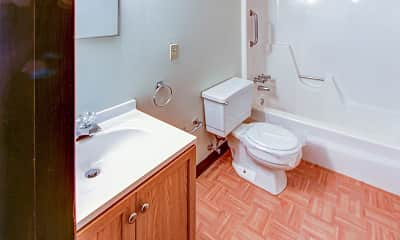 Bathroom, Center Grove Apartments, 2