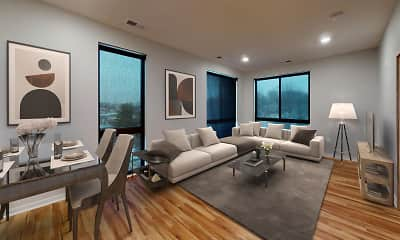 Living Room, bos Apartments, 0