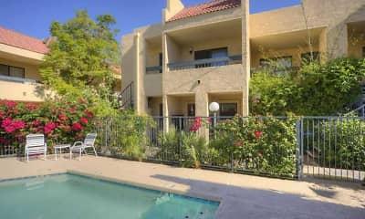 Pool, El Diablo Apartments, 2