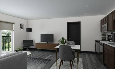 Living Room, Lofts at Fox Ridge, 2