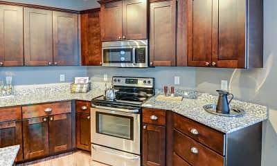 Kitchen, Victoria Park and V2 Apartments, 1