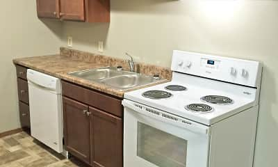 Kitchen, Cleveland Heights Apartments, 1