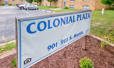 Community Signage, Colonial Apartments, 2