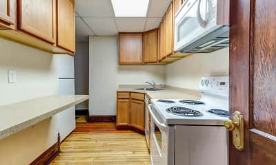 Kitchen, Jackson Apartments-Downtown Fargo, 1