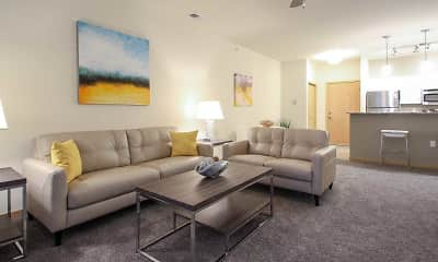 Living Room, The Pointe Luxury Apartments, 0
