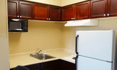 Kitchen, Furnished Studio - Houston - Stafford, 1