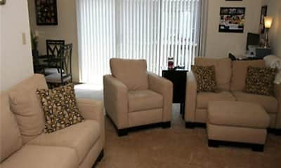 Living Room, North Hills Apartments, LLC, 0