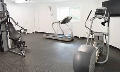 Fitness Weight Room, Colonial Club Apartments, 2
