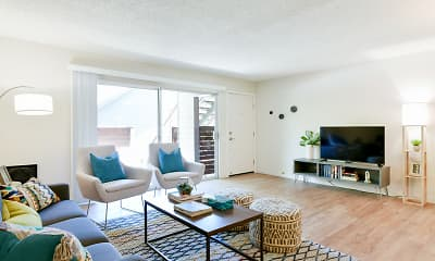 Living Room, The Hilltop Apartments, 0